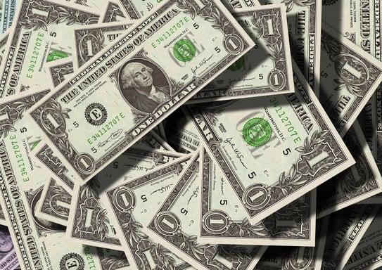 multiple one dollar bills